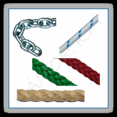Egyéb kereskedelmi kötél és lánc méretáru